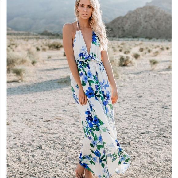 a388e1e7fb54 lovestitch Dresses   Hawaiian Floral Ruffle Maxi Dress   Poshmark